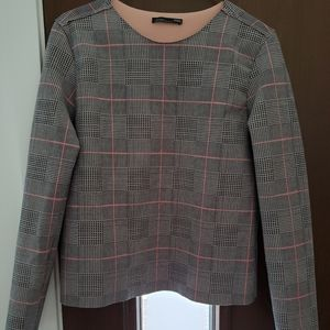 Zara faux leather shirt size small